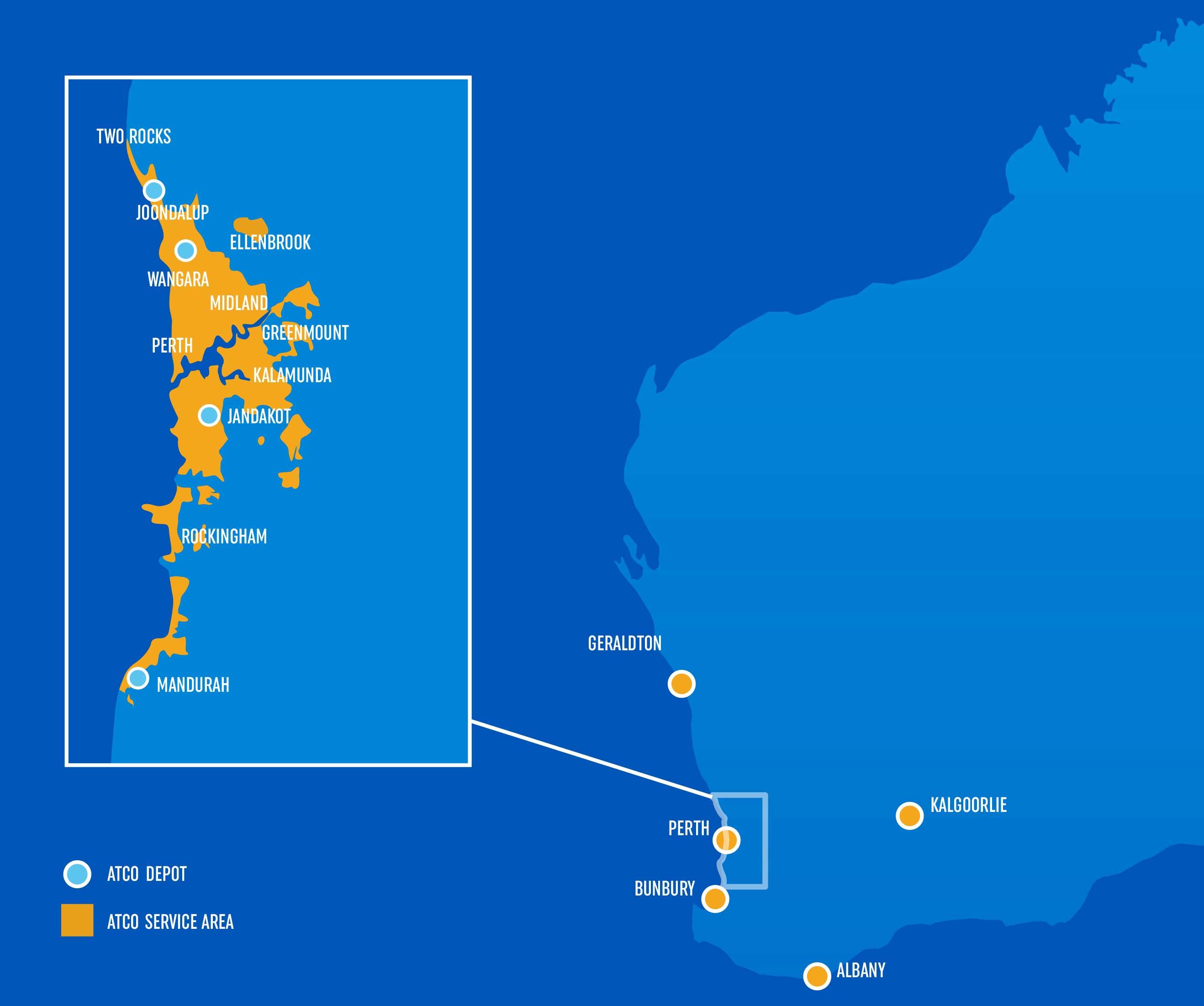 Australia Map Kalgoorlie.The Network Atco
